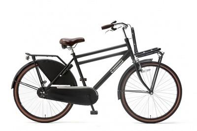 Kinder-Fahrrad Velo Hollandrad Popal Daily Dutch Basic 26 Zoll 46 cm Jungen Rücktrittbremse Mattschwarz