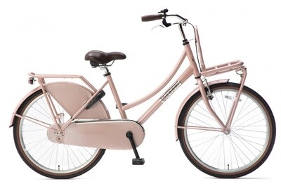 Kinder-Fahrrad Velo Hollandrad Popal Daily Dutch Basic 24 Zoll 42 cm Mädchen Rücktrittbremse Lachsfarben