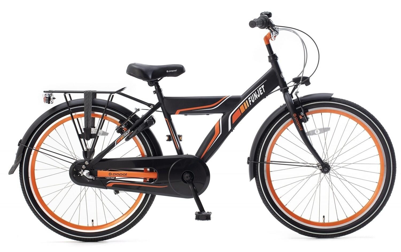 Kinder-Fahrrad Velo Popal Funjet N3 24 Zoll Jungen 3G Rücktrittbremse Blau/Grau