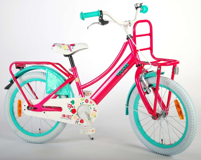 Kinder-Fahrrad Velo Volare Ibiza 18 Zoll 28 cm Mädchen Rücktrittbremse Rosa