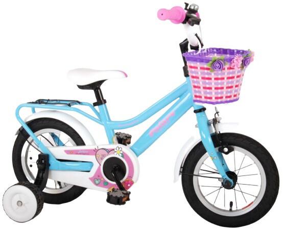 Kinder-Fahrrad Velo Volare Brilliant 12 Zoll 21,5 cm Mädchen Rücktrittbremse Blau/Weiss