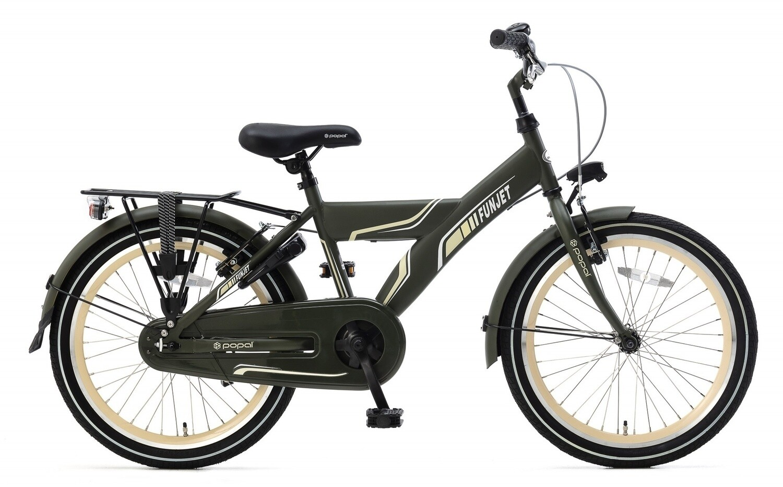 Kinder-Fahrrad Velo Popal Funjet X 20 Zoll Jungen Rücktrittbremse Armeegrün