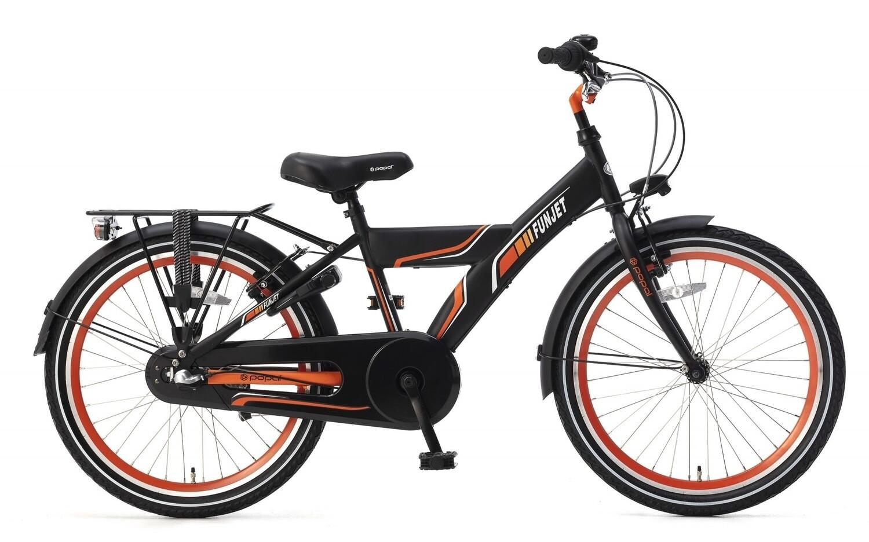Kinder-Fahrrad Velo Popal Funjet N3 22 Zoll Jungen 3G Rücktrittbremse Schwarz/Orange