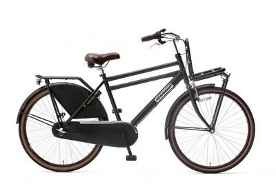 Kinder-Fahrrad Velo Hollandrad Popal Daily Dutch Basic 26 Zoll 46 cm Jungen 3G Rücktrittbremse Mattschwarz