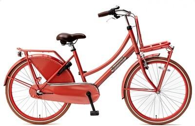 Kinder-Fahrrad Velo Hollandrad Popal Daily Dutch Basic+ 24 Zoll 42 cm Mädchen 3G Rücktrittbremse Rot