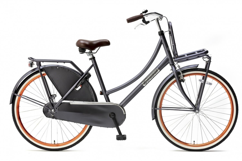 Kinder-Fahrrad Velo Hollandrad Popal Daily Dutch Basic 26 Zoll 46 cm Mädchen Rücktrittbremse Petrolblau