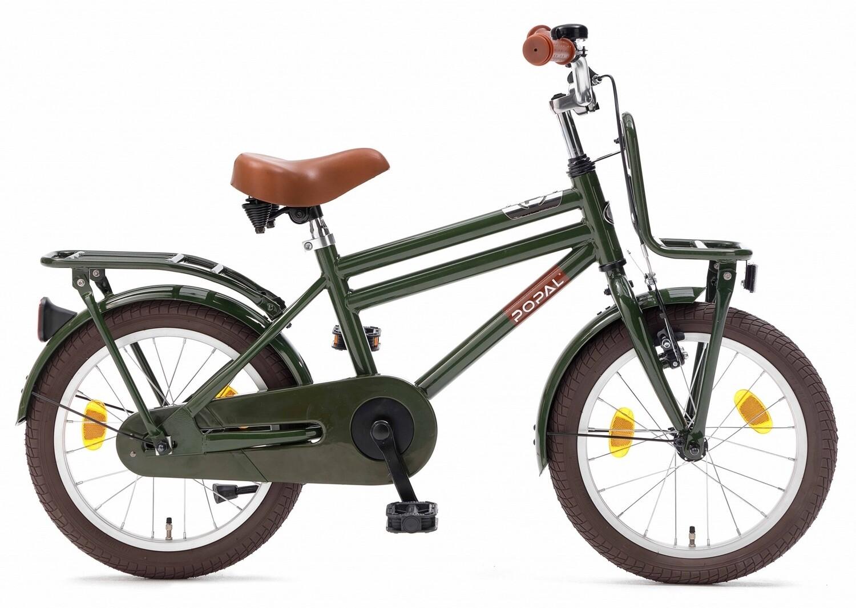Kinder-Fahrrad Velo Popal Cooper 18 Zoll Jungen Rücktrittbremse Armeegrün