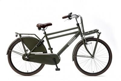 Kinder-Fahrrad Velo Hollandrad Popal Daily Dutch Basic 26 Zoll 46 cm Jungen 3G Rücktrittbremse Armeegrün