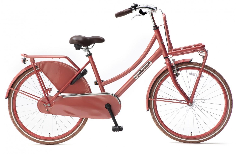 Kinder-Fahrrad Velo Hollandrad Popal Daily Dutch Basic 24 Zoll 42 cm Mädchen Rücktrittbremse Rot