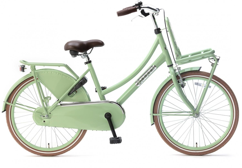 Kinder-Fahrrad Velo Hollandrad Popal Daily Dutch Basic 22 Zoll 36 cm Mädchen Rücktrittbremse Grün
