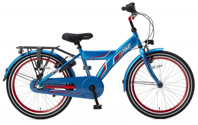 Kinder-Fahrrad Velo Popal Funjet N3 22 Zoll Jungen 3G Rücktrittbremse Blau/Rot