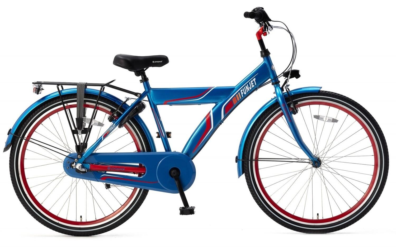 Kinder-Fahrrad Velo Popal Funjet N3 26 Zoll Jungen 3G Rücktrittbremse Blau/Rot