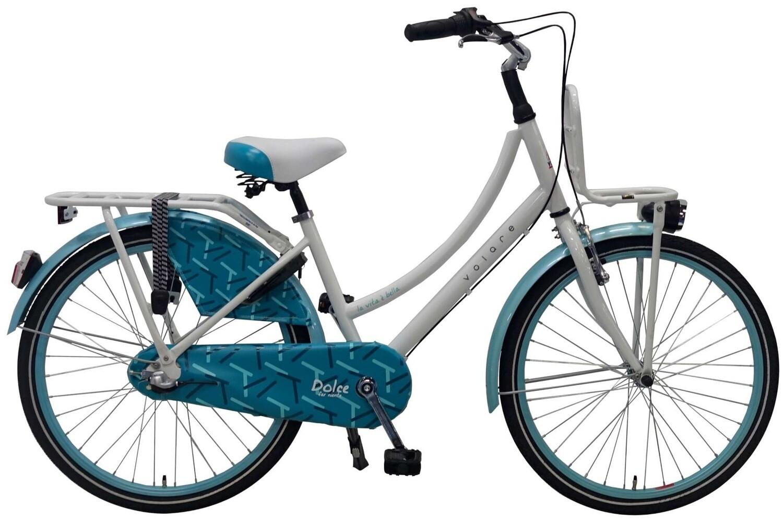 Kinder-Fahrrad Velo Volare Dolce 24 Zoll 37 cm Mädchen 3G Rücktrittbremse Weiss/Blau