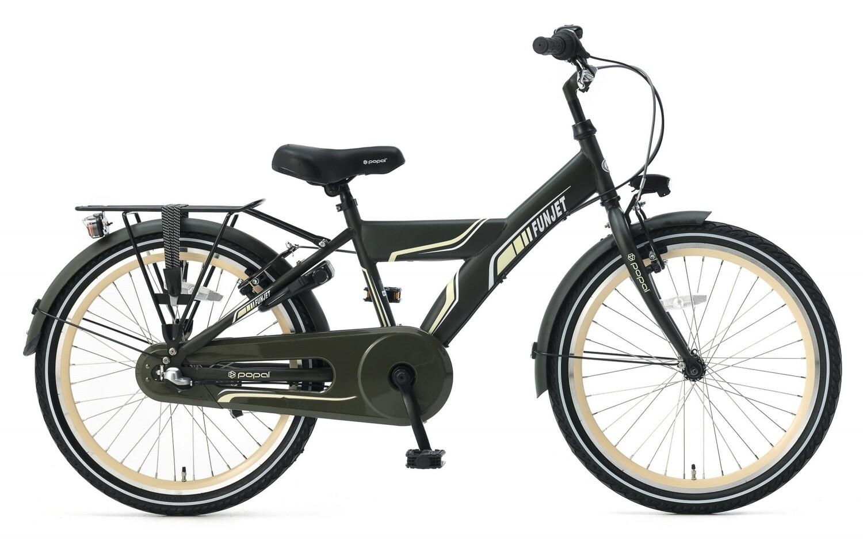 Kinder-Fahrrad Velo Popal Funjet N3 22 Zoll Jungen 3G Rücktrittbremse Armeegrün