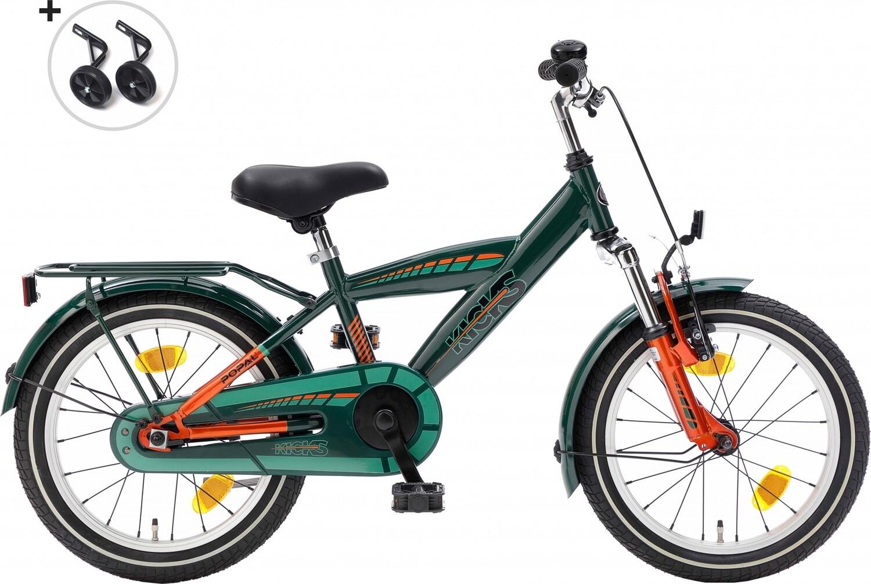 Kinder-Fahrrad Velo Popal Kicks 16 Zoll Jungen Rücktrittbremse Grün