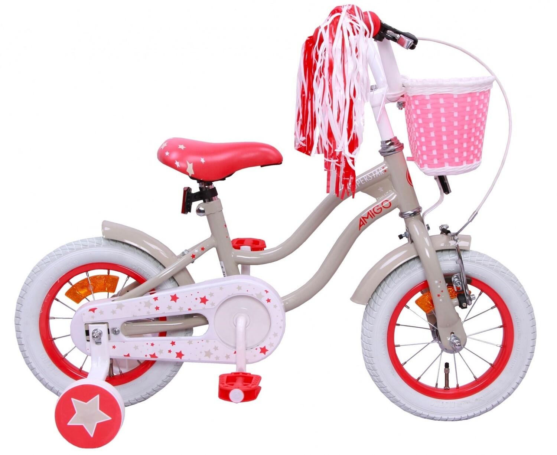 Kinder-Fahrrad Velo AMIGO Superstar 12 Zoll Mädchen Rücktrittbremse Creme