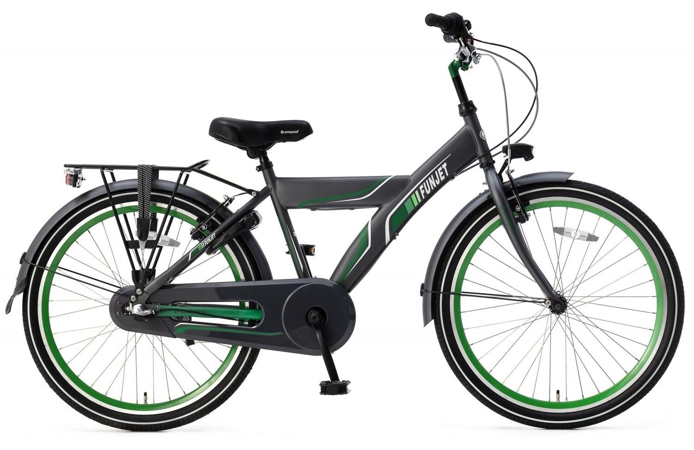 Kinder-Fahrrad Velo Popal Funjet N3 24 Zoll Jungen 3G Rücktrittbremse Grün/Grau