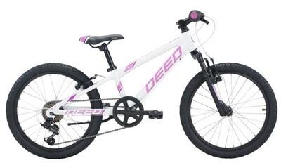 Kinder-Fahrrad Velo Mountainbike Deed Rookie 206 20 Zoll Mädchen 6G Felgenbremse Weiss/Violett