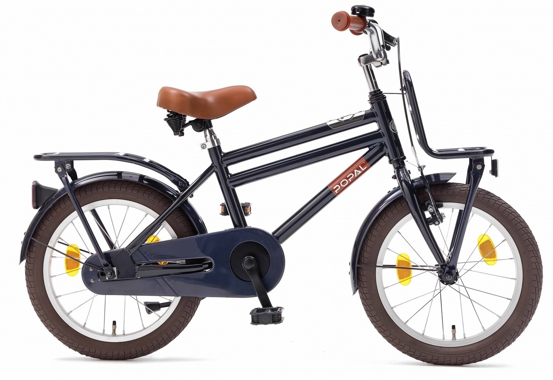 Kinder-Fahrrad Velo Popal Cooper 18 Zoll Jungen Rücktrittbremse Dunkelblau