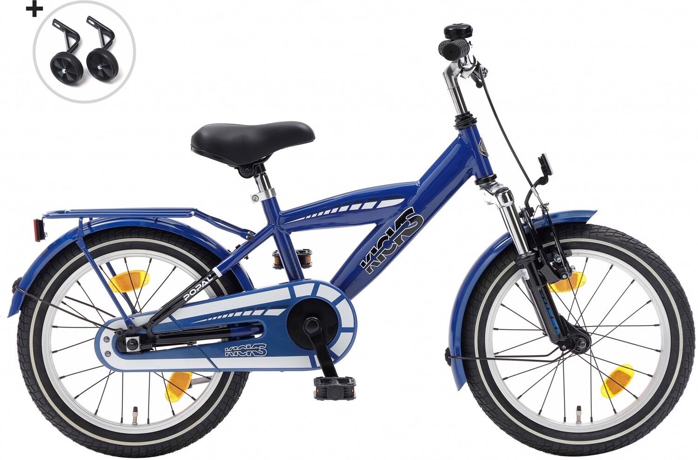 Kinder-Fahrrad Velo Popal Kicks 16 Zoll Jungen Rücktrittbremse Blau
