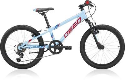 Kinder-Fahrrad Velo Mountainbike Deed Rookie 206 20 Zoll Jungen 6G Felgenbremse Hellblau/Rot