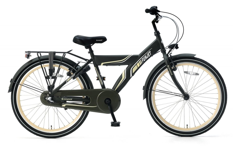 Kinder-Fahrrad Velo Popal Funjet N3 24 Zoll Jungen 3G Rücktrittbremse Armeegrün