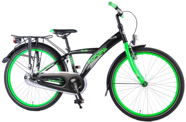 Kinder-Fahrrad Velo Volare Thombike 24 Zoll Jungen Rücktrittbremse Schwarz/Grün