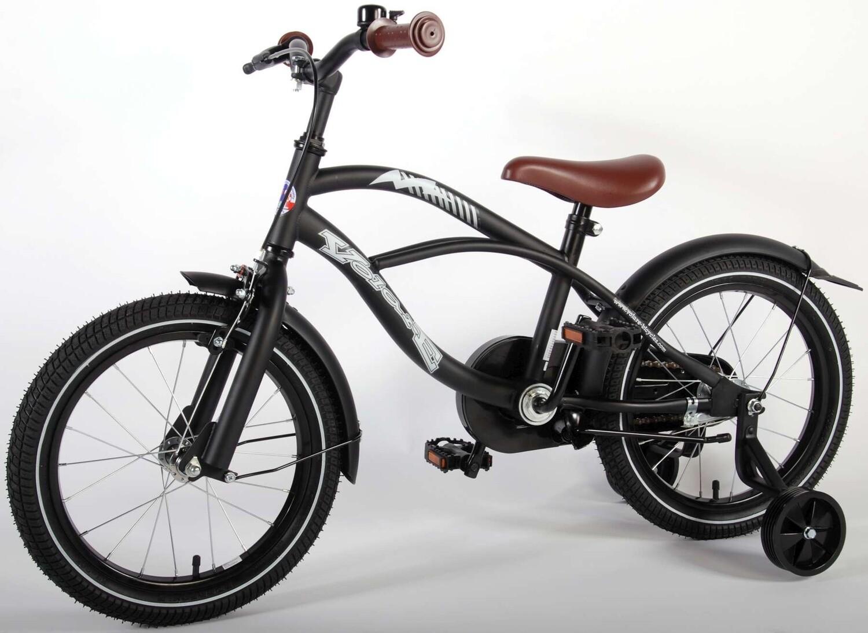 Kinder-Fahrrad Velo Volare Black Cruiser 16 Zoll 25,4 cm Jungen Rücktrittbremse Mattschwarz