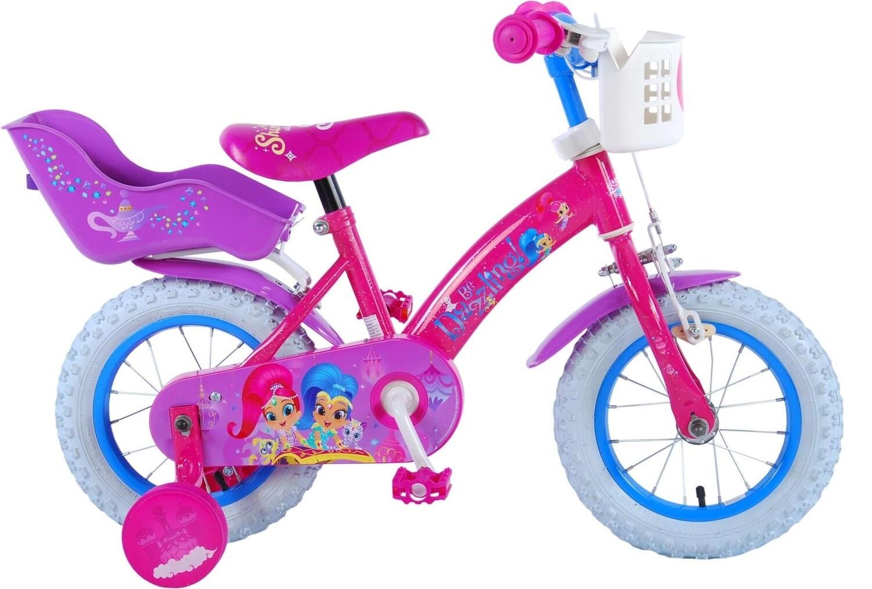 Kinder-Fahrrad Velo Volare Shimmer & Shine 12 Zoll 21,5 cm Mädchen Rücktrittbremse Rosa/Violett
