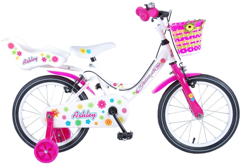 Kinder-Fahrrad Velo Volare Ashley 16 Zoll 25,4 cm Mädchen Felgenbremse Weiss