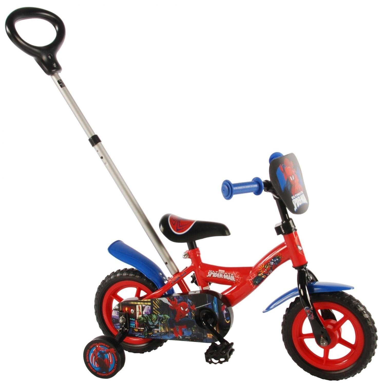 Kinder-Fahrrad Velo Volare Spider-Man 10 Zoll Jungen Über Treppen Rot/Blau