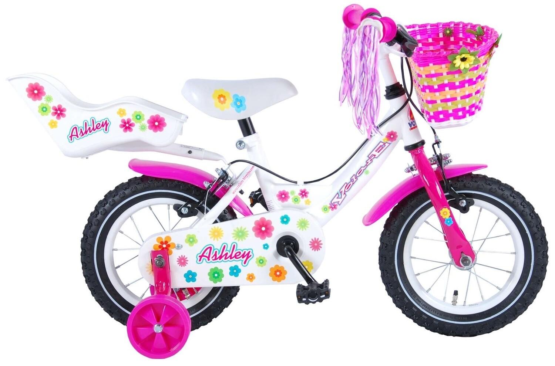 Kinder-Fahrrad Velo Volare Ashley 12 Zoll 21,5 cm Mädchen Felgenbremse Weiss