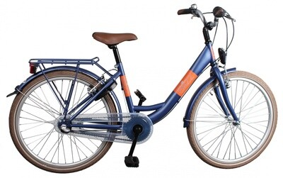 Kinder-Fahrrad Velo Bike Fun Blizz 26 Zoll 43 cm Mädchen 3G Felgenbremse Mattblau