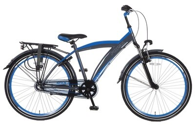 Kinder-Fahrrad Velo Popal Kicks 26 Zoll Jungen 3G Rücktrittbremse Blau/Grau