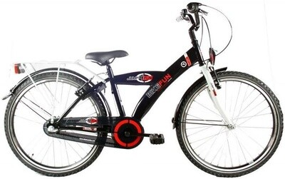 Kinder-Fahrrad Velo Bike Fun City 24 Zoll Jungen Rücktrittbremse Schwarz