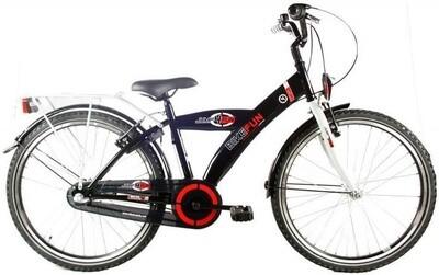 Kinder-Fahrrad Velo Bike Fun City 24 Zoll Jungen 3G Rücktrittbremse Schwarz