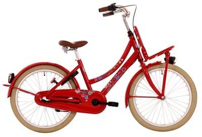 Kinder-Fahrrad Velo Bike Fun Love & Peace 26 Zoll Mädchen 3G Rücktrittbremse Rot