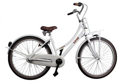 Kinder-Fahrrad Velo Bike Fun Cargo Load 26 Zoll 43 cm Mädchen 3G Rücktrittbremse Weiss