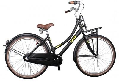 Kinder-Fahrrad Velo Bike Fun Cargo Load 26 Zoll 43 cm Mädchen 3G Rücktrittbremse Schwarz