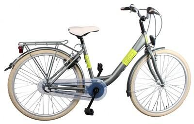 Kinder-Fahrrad Velo Bike Fun Blizz 26 Zoll 43 cm Mädchen 3G Felgenbremse Mattgrün