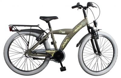 Kinder-Fahrrad Velo Bike Fun Camouflage 24 Zoll Jungen 3G Rücktrittbremse Armeegrün