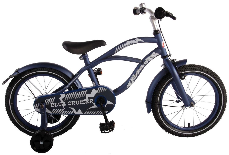 Kinder-Fahrrad Velo Volare Blue Cruiser 16 Zoll 25,4 cm Jungen Rücktrittbremse Mattblau