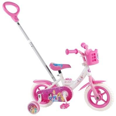 Kinder-Fahrrad Velo Volare Disney Princess 10 Zoll Mädchen Über Treppen Weiß/Rosa