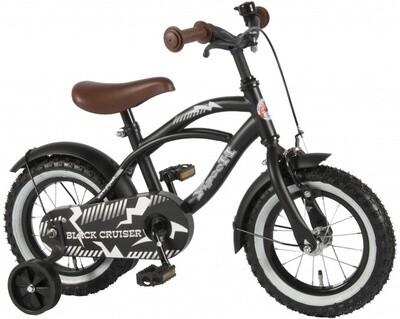 Kinder-Fahrrad Velo Yipeeh Black Cruiser 14 Zoll 23,5 cm Jungen Rücktrittbremse Mattschwarz