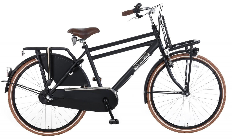 Kinder-Fahrrad Velo Hollandrad Popal Daily Dutch Basic+ 24 Zoll Jungen 3G Rücktrittbremse Mattschwarz