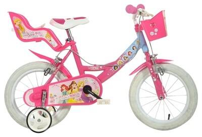 Kinder-Fahrrad Velo Dino 164R-PSS Princess 16 Zoll 26 cm Mädchen Felgenbremse Rosa