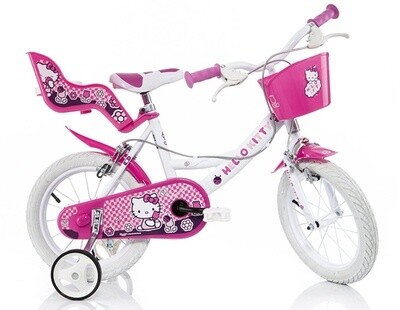 Kinder-Fahrrad Velo Dino 164R-HK Hello Kitty 16 Zoll 27 cm Mädchen Felgenbremse Rosa