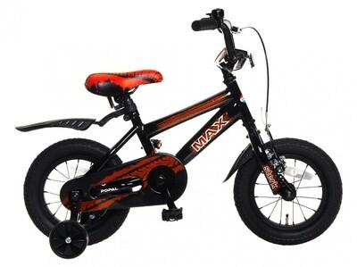 Kinder-Fahrrad Velo Popal Max 12 Zoll Jungen Rücktrittbremse Schwarz/Rot