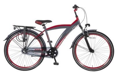 Kinder-Fahrrad Velo Popal Kicks 26 Zoll Jungen 3G Rücktrittbremse Rot/Grau