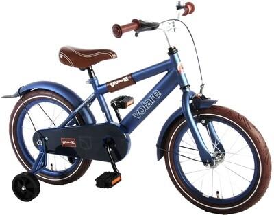 Kinder-Fahrrad Velo Volare Urban City 16 Zoll 25,5 cm Jungen Rücktrittbremse Mattblau
